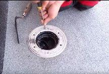 Receptoare terase/ Roof drainage outlet / receptoare si guri de scurgere terase. Detaliu scurgere la acoperis terasa in sistem hidroizolatie si termoizolatie, aplicare impermeabilizare pe suport in combinatie cu izolarea termica racordata la sifonul de colectare pluviala.
