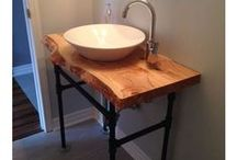 Salvaged and Reclaimed Live Edge: VANITIES