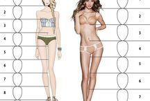 templates / Шаблоны фигур для создания эскизов. Templates for fashion and flat sketches .