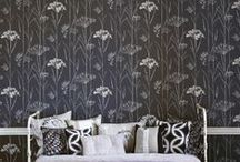 "Monochrome / A collection of ""Black & White"" inspirational fabrics and interiors."