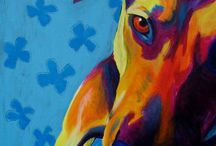 Dog Art / Dog paintings, drawings and other art