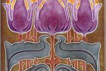 Art Nouveau tiles / Pretty tiles: art nouveau, antique, vintage, and reproductions