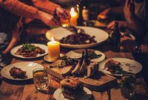 Cosy dinner party