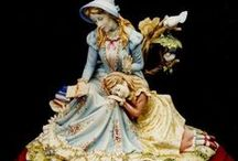 figurine of а lovely lady imagery // статуэтки образа прелестной леди / statues belong to different epochs and styles