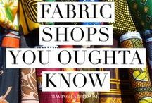 Craft Travel / Fabric and craft stores I'd like to visit or check out.