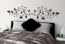 Stickers t te de lit d coration sur mesure et - Tete de lit en forme de coeur ...