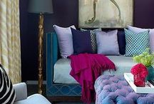 Bejeweled / From emerald green to sapphire blue to ruby red, jewel tones are everywhere this year.  Incorporating these gorgeous, saturated colors will add a touch of glamour to any room.