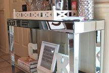 Mirror Image / Mirrored furniture and decorative pieces add instant glam to any room.  These are some of our favorites.