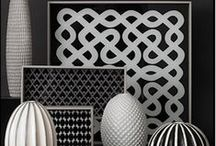 Black & White / Artistic and always in style, black & white decor adds a bit of drama to any space.