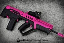 Pink Gun Candy / When you combine guns with art to create firearms that look so sweet you can only call them candy!  Inspired by women who know fashion and don't think it needs to be recessed from personal protection.  This is where leather meets lace.