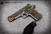 1911 Madness / The 1911 may be the perfect gun for custom color.  Check out some of these ideas that can turn your boring edc into a work of art.