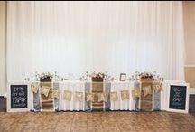 Wedding Inspiration {Reception Venue Décor} / Ideas to decorate your wedding reception venue...