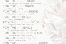 Wedding Inspiration {Songs} / Set the mood...