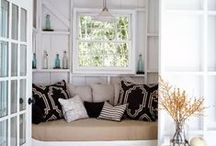 Cozy nooks / Curl up and read, or just take a nap.  There's nothing cozier than a nook tucked away in a corner of a room.
