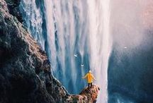 Iceland / Waterfalls / A handpicked collection of amazing photos of waterfalls in Iceland (Summer and Winter) as inspiration for your next trip up North. // Take a look at my other Iceland and Scandinavia related boards for more inspiring photos.
