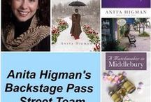 Anita Higman's Backstage Pass Team / This is a board for Anita Higman's Backstage Pass Team to post pictures of them with her books and other things related to Anita and her books.