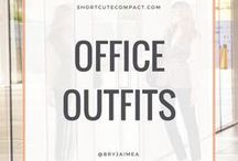 WORK & OFFICE OUTFITS. / Corporate, business and office attire fashion, style and outfits.