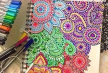 Coloring INSPIRATION / Uncolored coloring sheets will be deleted. Everything COLORED for coloring inspiration! ;) Doodles and sketches are welcome.         ------           www.TheColoringBook.Club