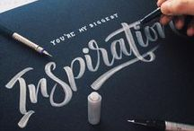 Calligraphy & Lettering / Handpicked and frequently updated collection of inspirational calligraphy and hand lettering. // Take a look at my other design related boards for more inspiration on Graphic Design, Typography, Webdesign, Illustration and Photography.