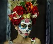 Day of the Dead/Dia De Los Muertos / All things Day of the Dead Style. Collections of Day of the dead mask, Dia de los Muertos make up, sugar skull art, day of the dead figurines,day of the dead decorations,day of the dead jewelry,dia de los muertos tattoos,day of the dead woman costume. You can invite others but please keep board true to DOD style.