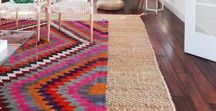 Layering Rugs / Layering rugs is a bold, fun design element that can help transform an entire room.  Layering rugs also adds warmth, texture and visual interest to a space.