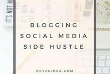 Blogging, Social Media & Side Hustle / Advice on Blogging for Bloggers, social media, twitter, pinterest, instagram. Side Hustle advice and how to build mailing lists.