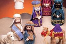 Crochet nativity and angels