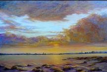 Pastel landscapes / landscapes far and wide - small and intimate and large scenic scenes.