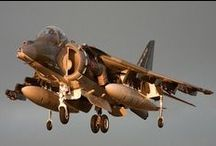 """Harrier / The Hawker Siddeley Harrier, known colloquially as the """"Harrier Jump Jet"""", was developed in the 1960s and formed the first generation of the Harrier series of aircraft.The Harrier was also extensively redesigned as the AV-8B Harrier II and British Aerospace Harrier II by the team of McDonnell Douglas and British Aerospace."""