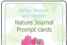 Nature Journal Prompt Cards / Nature journaling is a fantastic way to creatively connect with nature wherever you find your adventures taking you! These digitally downloadable Nature Journal Prompt Cards accompany the Using Nature Journal Prompts eCourse & spark creative juices and get connection flowing at home, school, or out in the community! Get your copy here https://wings-worms-and-wonder-classroom.teachable.com/p/using-nature-journal-prompts