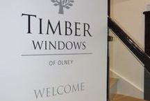 Timber Windows of Olney / New showroom opened in Olney, Buckinghamshire.
