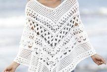 Crochet ponchos, shawls