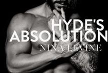 Hyde's Absolution - alpha romance, biker romance / Hyde's Absolution is the fourth book in Nina Levine's Sydney Storm MC biker romance series. If you love dirty-talking alpha bikers, you'll love this motorcycle romance. Alpha romance, alpha male romance books, bad boy romance books, alpha book, hero alpha, hottest romance novels, best alpha male romance books.