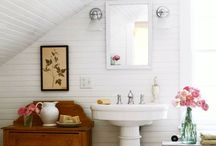 Bathroom / Inspiration for my white wood panelled 1930's bathroom