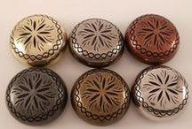 Conchos for Leather / Conchos for leather and leather craft- screw back, chicago screw back & rivet conchos