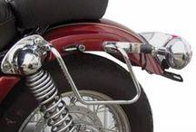Supporti per borse moto custom / Supporti per borse laterali custom. Per Harley Davidson, HOnda, Yamaha, Suzuki, Kawasaki.