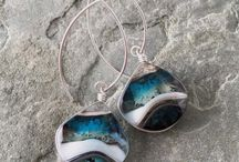 Weathered Heather / Kiln Formed Art Glass Jewelry by Heather Bivens