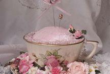 Cup pincushions