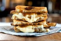 Grilled cheese! / Gooey cheese + toasted bread... what could be better?!