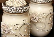 Crafts with jars and tin cans / by Cyndi Perrelle MacDonald