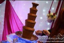 Fontanny czekoladowe, serowe i alkoholowe