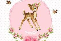 Baba bokkie inspirasie en crafts / Bokkie, Bambi, Duiker, Hertje, Deer, goat, fawn, buck craft inspiration Baby girl room