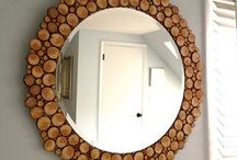 Tree trunk and drift wood creations