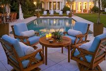 Outside the house / All things outside. Porches Swings Outdoor fireplaces and more