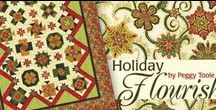 "Holiday Flourish 3 by Robert Kaufman / ""Holiday Flourish 3"" by Peggy Toole for Robert Kaufman Fabrics"