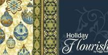 "Holiday Flourish 5 by Robert Kaufman / ""Holiday Flourish 5"" by Peggy Toole for Robert Kaufman Fabrics"