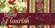 "Holiday Flourish 6 by Robert Kaufman / ""Holiday Flourish 6"" by Elizabeth Brownd for Robert Kaufman Fabrics"