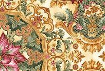 "Holiday Flourish 7 by Robert Kaufman / ""Holiday Flourish 7"" by Peggy Toole for Robert Kaufman Fabrics"