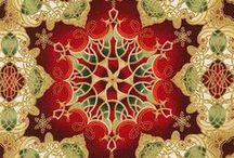 "Holiday Flourish 8 by Robert Kaufman / ""Holiday Flourish 8"" by Peggy Toole for Robert Kaufman Fabrics"