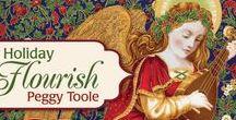 "Holiday Flourish 9 by Robert Kaufman / ""Holiday Flourish 9"" by Peggy Toole for Robert Kaufman Fabrics"